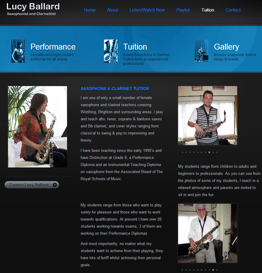 Lucy Ballard - Clarinet Teacher
